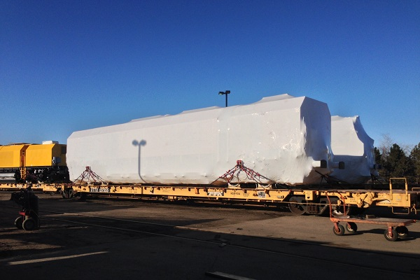Train Cars Going to Houston Port by Rail